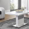 Evita Glass White stolik