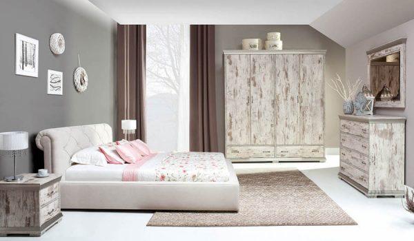 Retro sypialnia